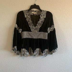 Blouse Black and white S pre-owned